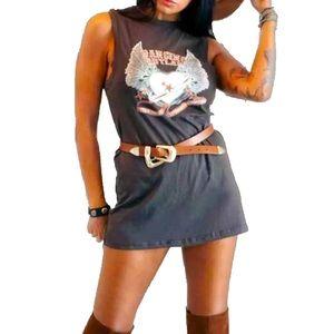 Dancing Outlaw Muscle Tee Mini Dress